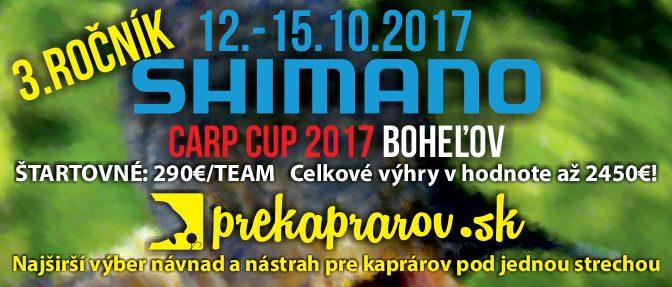3.ROČNÍK PREKAPRAROV.SK / SHIMANO CARP CUP 2017- priebeh súťaže